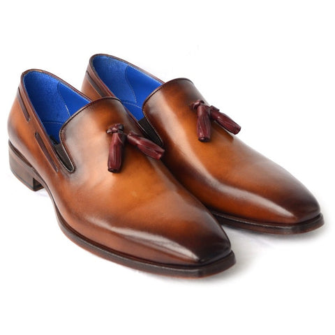 Paul Parkman Men's Tassel Loafer Walnut Leather Sole Leather Upper (ID#5141-WALNUT)