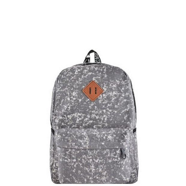 Grey Acid Wash Backpack