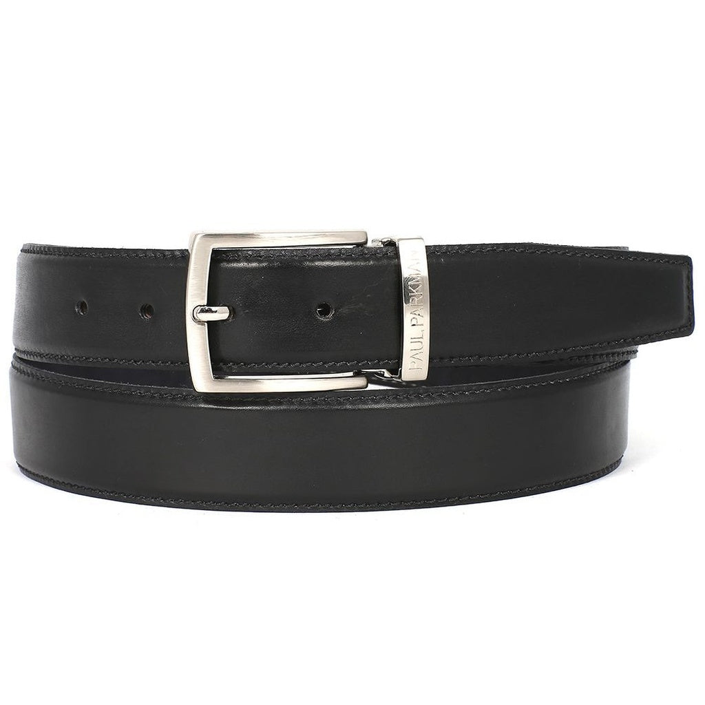 Paul Parkman | Leather Belt in Black