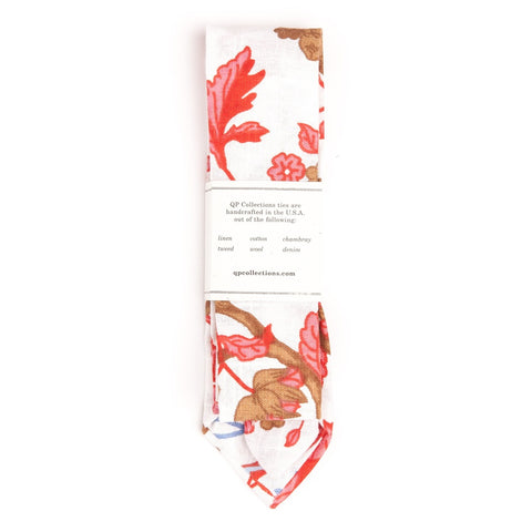 QP Collections | Bamble Red Floral Tie