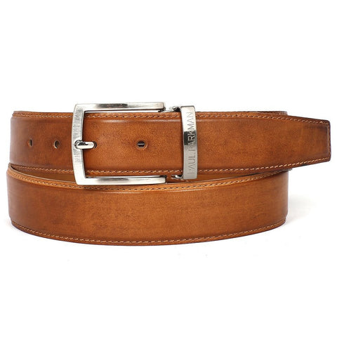 Paul Parkman | Leather Belt in Tobacco