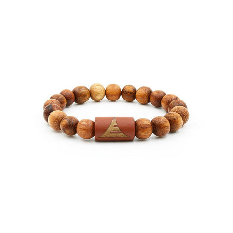 All Light Red Wood | Beaded Bracelet