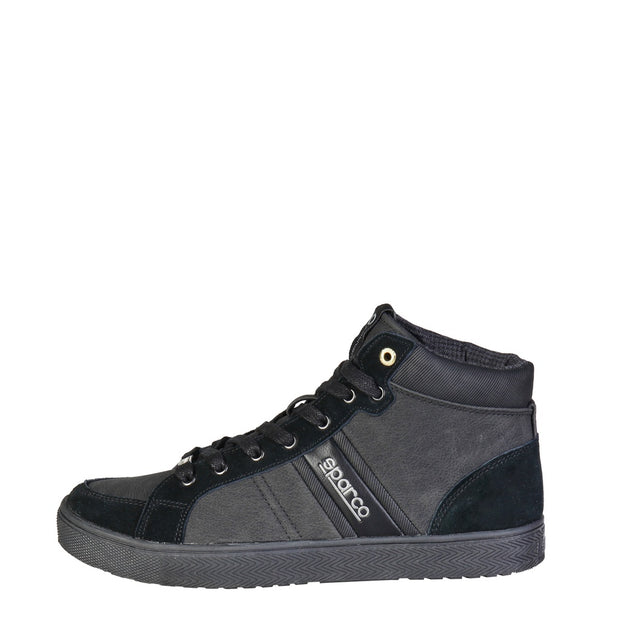 Sparco Shelton | Black Suede High Top Sneakers