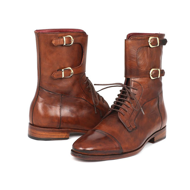 Paul Parkman | Brown Calfskin High Boots