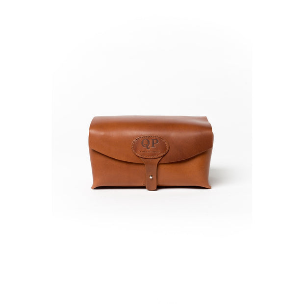 QP Collections | Walnut Leather Dopp Bag
