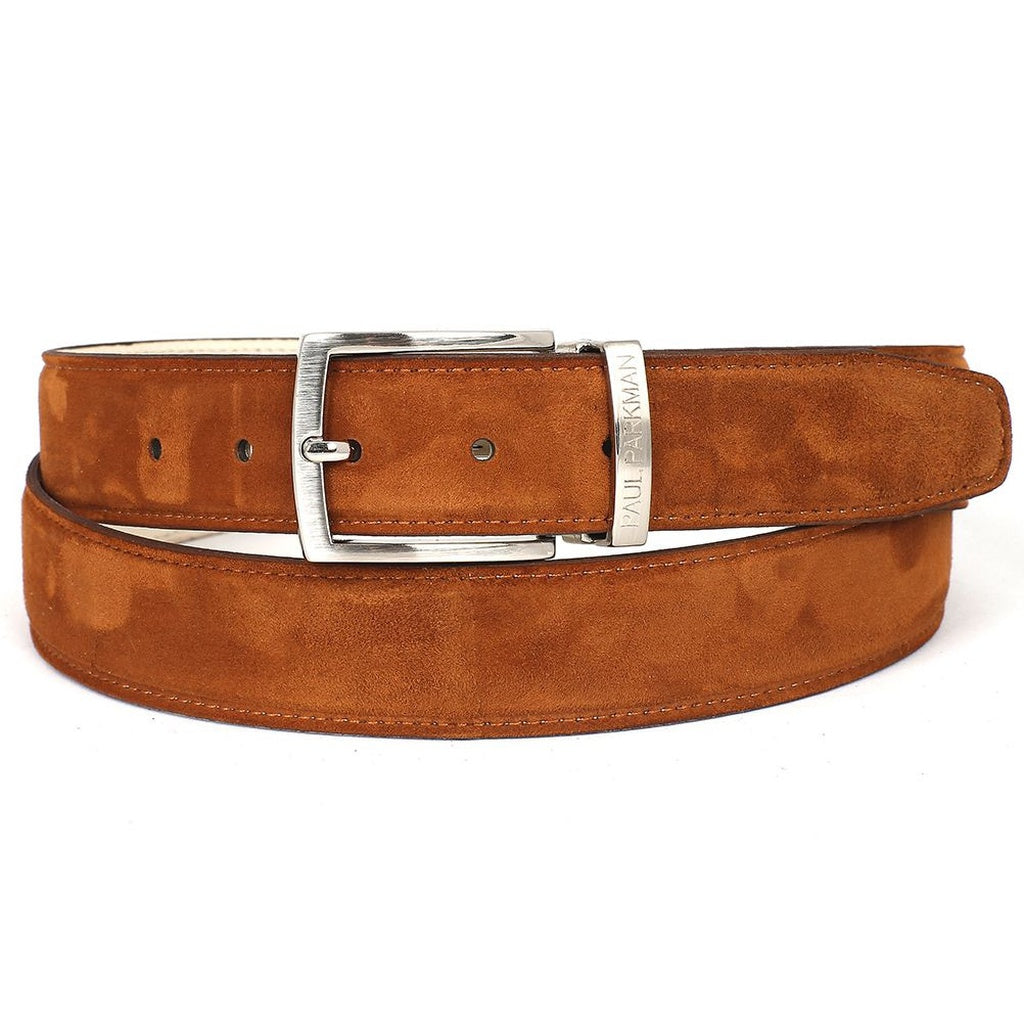 Paul Parkman | Suede Belt in Tobacco