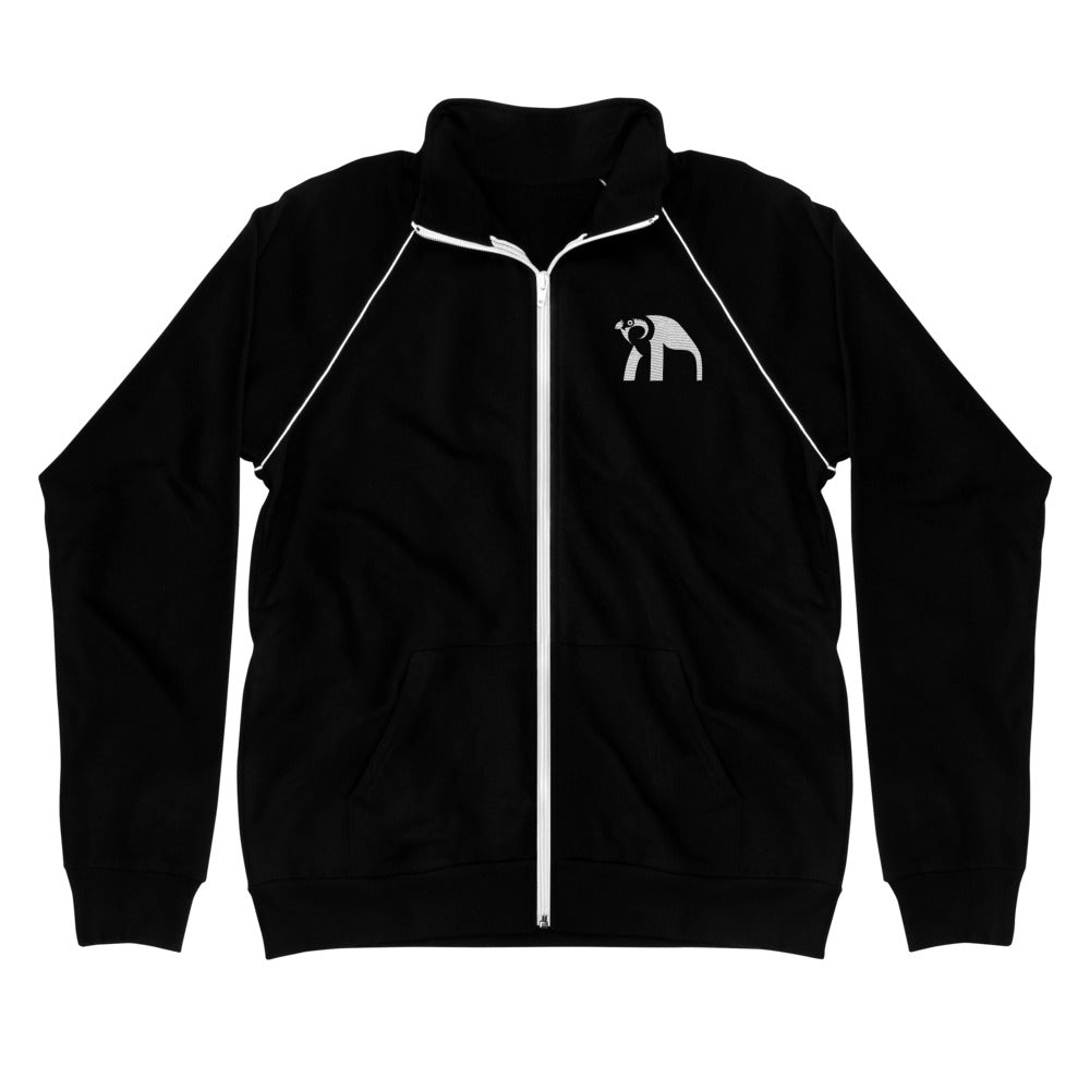 Horus Black Piped Fleece Jacket