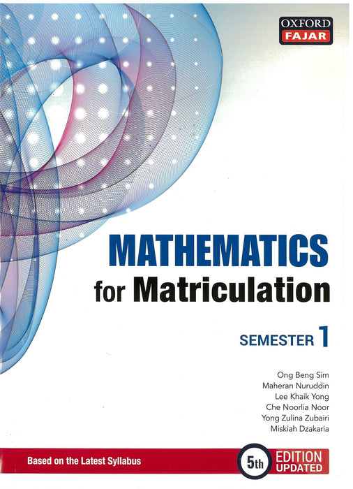Mathematics for Matriculation Semester 1 (5th Edition Updated)