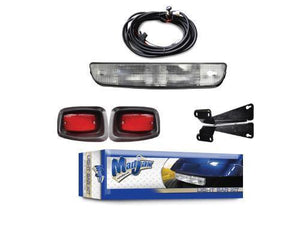 Light bar kit with upgradable harness. Will fit E-Z-GO TXT