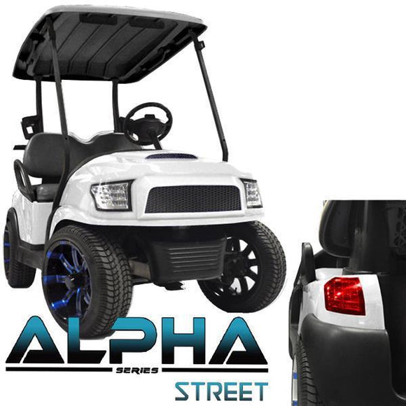 White Alpha (PREC) Body Kit w/Street Style Grill & Light Kit