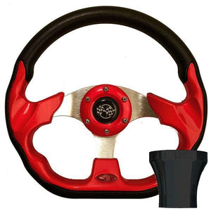 STEERING WHEEL KIT, RED/RACE 12.5 W/BLACK ADAPTER, CC PRECED