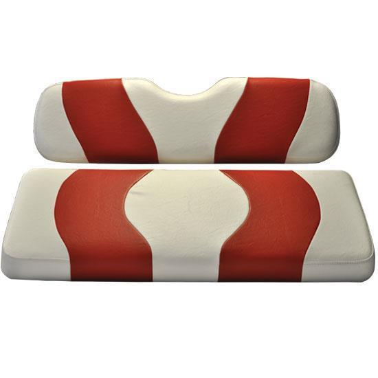 WAVE FRONT SEAT COVER DS WHITE/RED