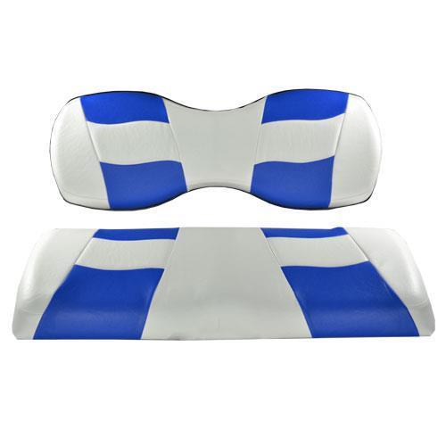 RIPTIDE White/Blue Two-Tone Rear Seat Covers for Genesis150