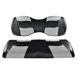 RIPTIDE Blck/Silver 2Tone Rear Seat Covers for G250/300