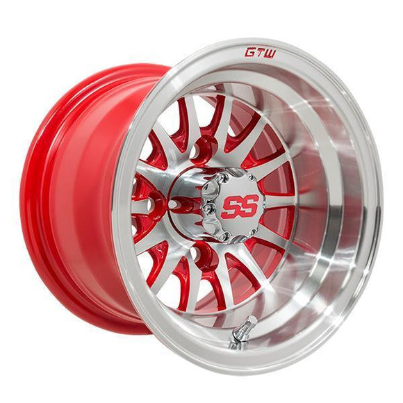 GTW Medusa 10x7 Machined Red Wheel