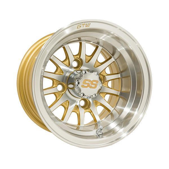 GTW Medusa 10x7 Machined Gold Wheel