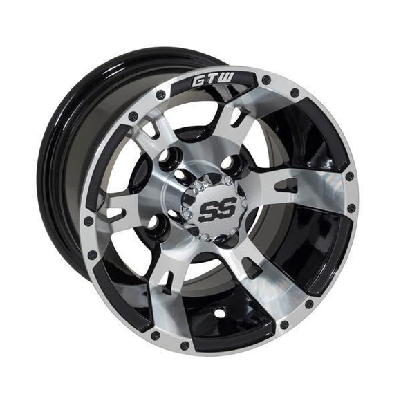 GTW Yellow Jacket 10x7 Machined Black Wheel