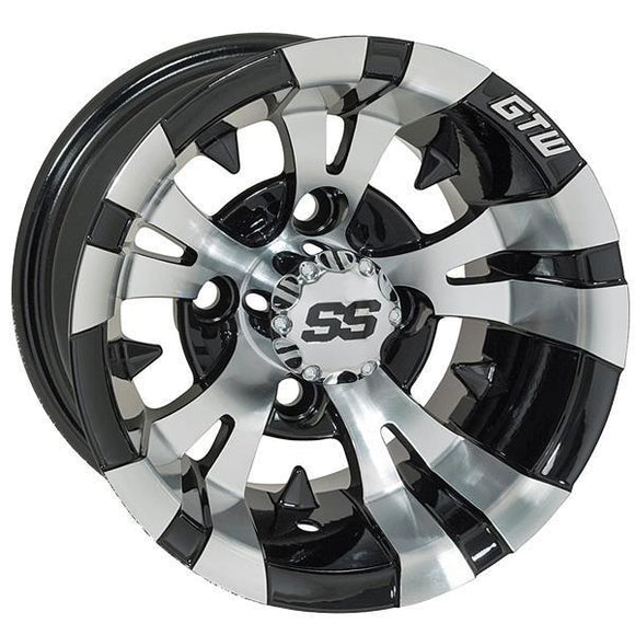 GTW Vampire 12x7 Machined Black Wheel