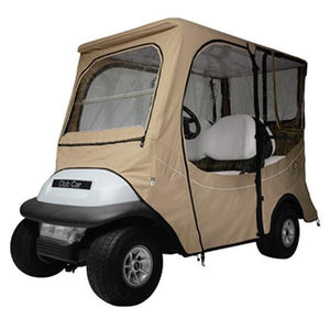 FadeSafe Club Car Precedent golf car enclosure, long roof, f