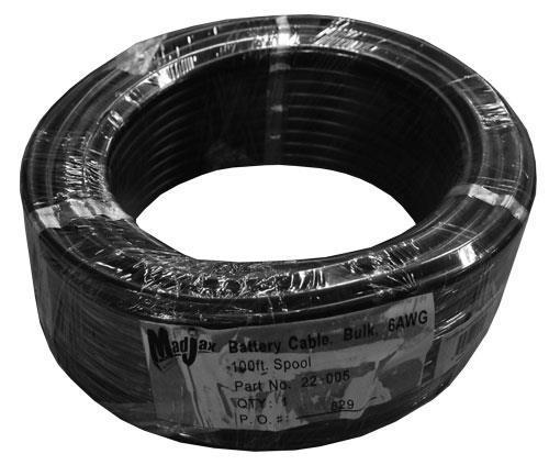 6AWG Battery Cable, 100 ft. Spool