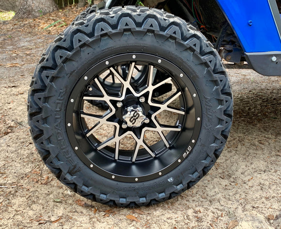 14 inch Vortex 2 w/ 23 10 14 Predator All Terrain Tires