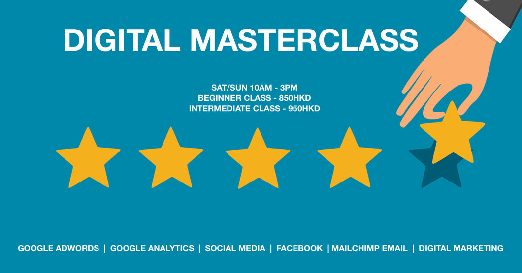 Digital Masterclass - Beginner $850, Intermediate $950