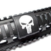Custom Gun Rails Punisher, Small Laser Engraved Aluminum (LEA) Picatinny Rail Cover