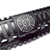 Custom Gun Rails F.D.N.Y. Patch, Small Laser Engraved Aluminum (LEA) Picatinny Rail Cover