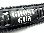 Custom Gun Rails Ghost Gun, Large Laser Engraved Aluminum (LEA) Picatinny Rail Cover