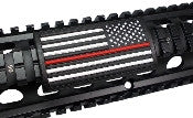 American Flag, Red Line, (Stars Right) - Large Grip PVC Picatinny Rail Cover