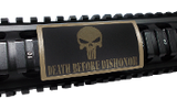 Custom Gun Rails Death Before Dishonor, Large PERMODIZE® (PMA) Picatinny Rail Cover