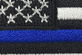 Thin Blue Line American Embroidered Velcro Patch