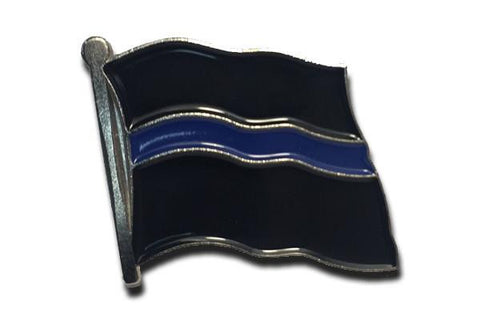 Thin Blue Line Flag Pin