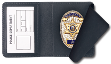 Blackinton 483 Side Opening Badge Case, Duty Style