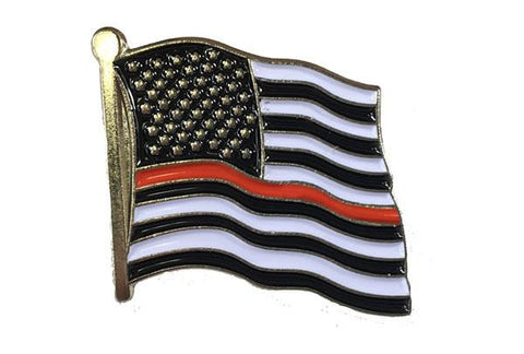 Thin Red Line American Flag Pin