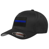 Flexfit Thin Blue Line Black Background Hat