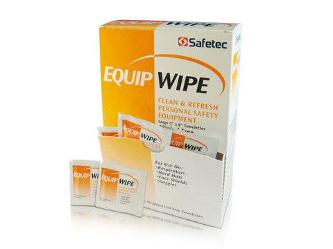 Safetec Personal Equipment Wipes, Box of 100 (10 Boxes Per Case)