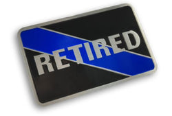 Retired Thin Blue Line Vehicle Emblem