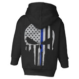 Youth Hoodie - Thin Blue Line Punisher