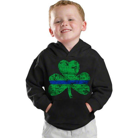 Youth Hoodie - Thin Blue Line Shamrock