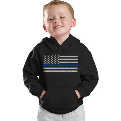 Youth Hoodie - Thin Blue Line Flag