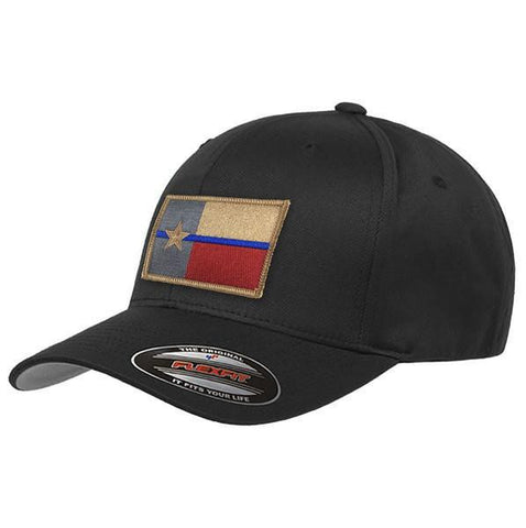 Flexfit Texas Thin Blue Line Flag Hat