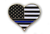 Heart Thin Blue Line Pin