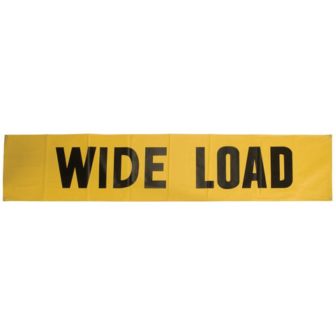 "Wide Load 18"" x 84"" Lime-Yellow 3M Scotchlite Reflective Material Banner"