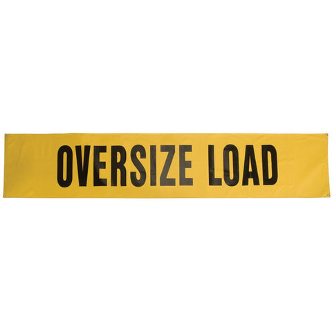 "Oversize Load 18"" x 84"" Lime-Yellow 3M Scotchlite Reflective Material Banner"