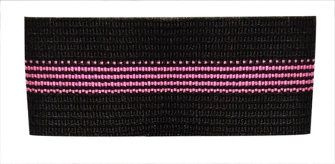 "Badge Mourning Bands with Pink Stripe (3/4"") - Pack of 10"