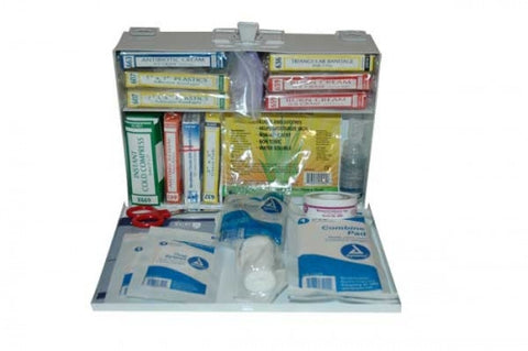 Metal-25 Person First Aid Kit - Meets ANSI/ISEA Z308.1-2015 Class A requirements