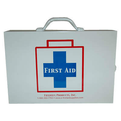 Metal 75 Person First Aid Kit - Meets ANSI/ISEA Z308.1-2015 Class B requirements