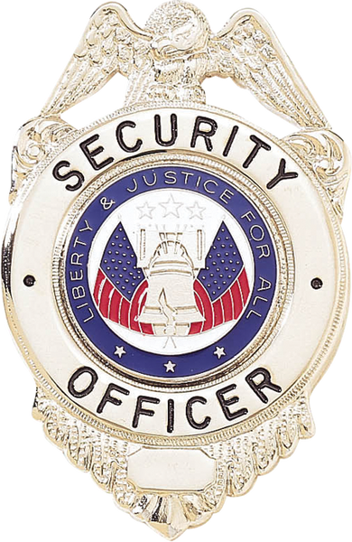 Blackinton A6938 Security Officer w/ Liberty & Justice Seal Badge