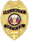 Blackinton A9037 Security Officer Shield Badge with Eagle